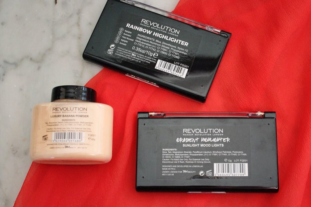 Revolution Highlighter and Banana Luxury Powder